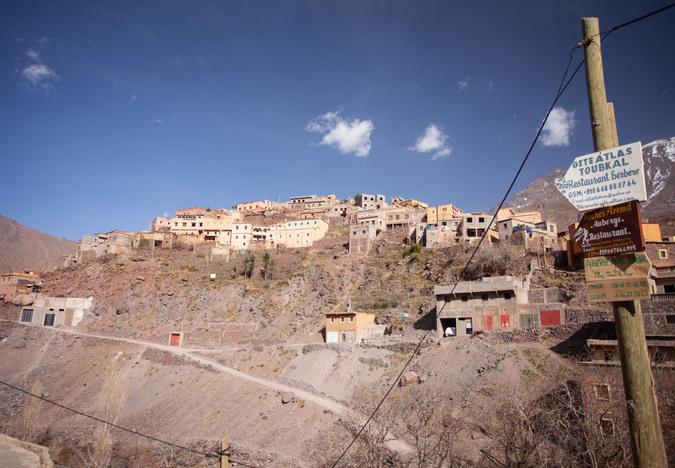 Village near Mount Toubkal, Atlas Mountains, Morocco