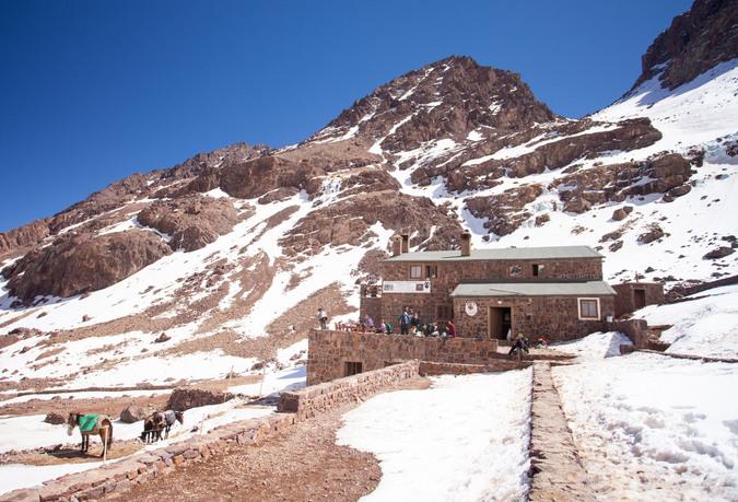 Mount Toubkal rest stop, Atlas Mountains, Morocco