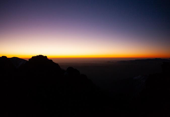 Sunrise on Mount Toubkal, Atlas Mountains, Morocco
