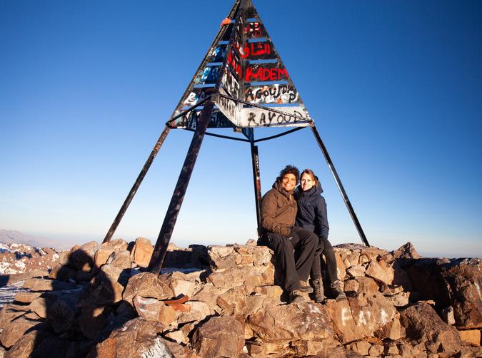 Author at peak of Mount Toubkal, Atlas Mountains, Morocco