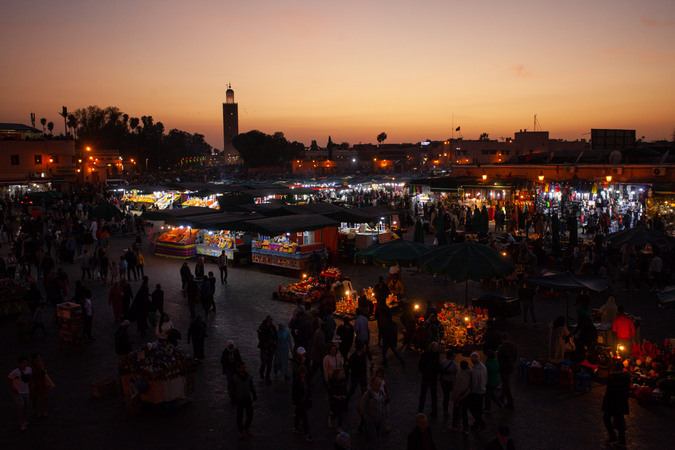 Night market in Marrakech