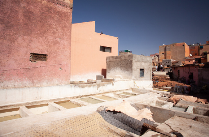 Leather tannery in Morocco