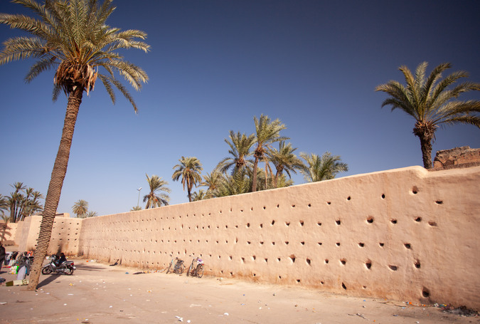 Old City wall in Medina