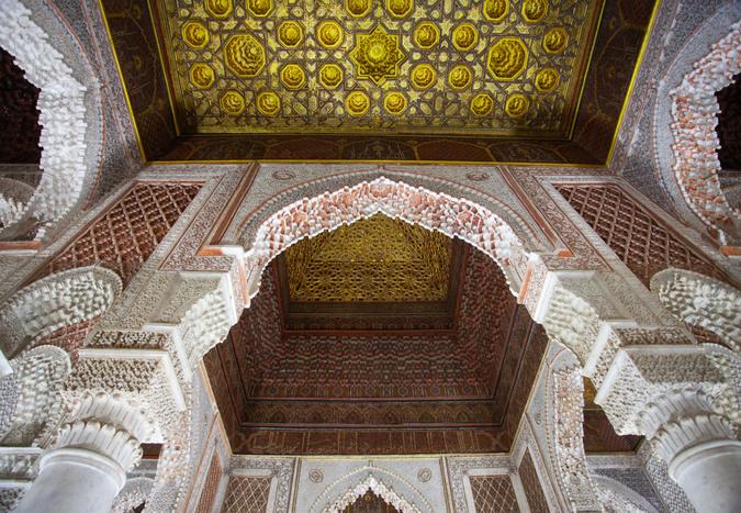 Saadian tombs gilded ceiling