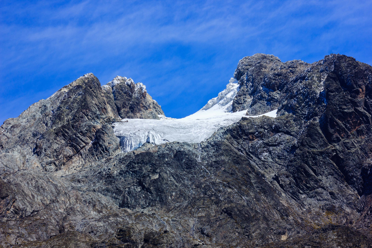 Margherita Glacier on Mount Stanley on a clear day in the Rwenzori Mountains Range, Uganda © Grace Wangui
