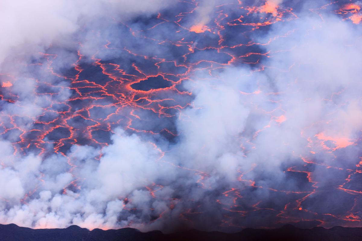 The smokey lava lake of Mount Nyiragongo, Democratic Republic of Congo © Grace Wangui