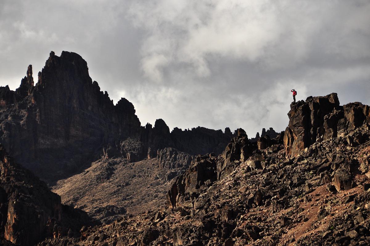 Summit gazing from the jagged ridgelines of Mount Kenya, Kenya © Robyn Johnston