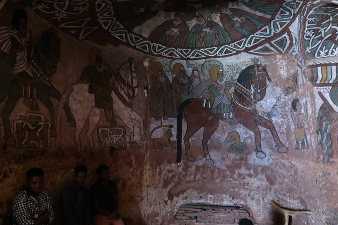 Inside Abuna Yemata Guh, Tigray region, Ethiopia © Erika Atienza