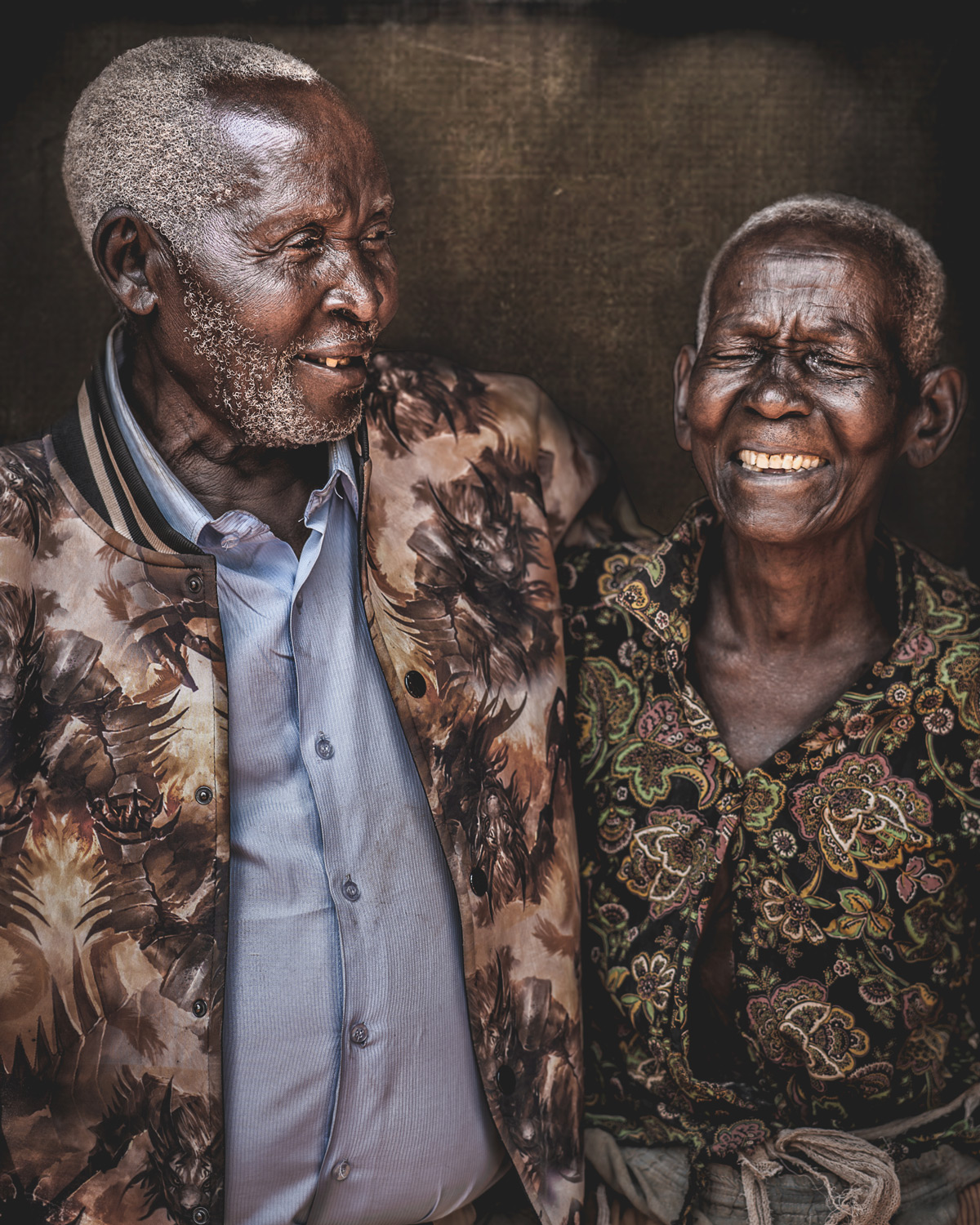 Happy Ugandan couple © Bob Ditty