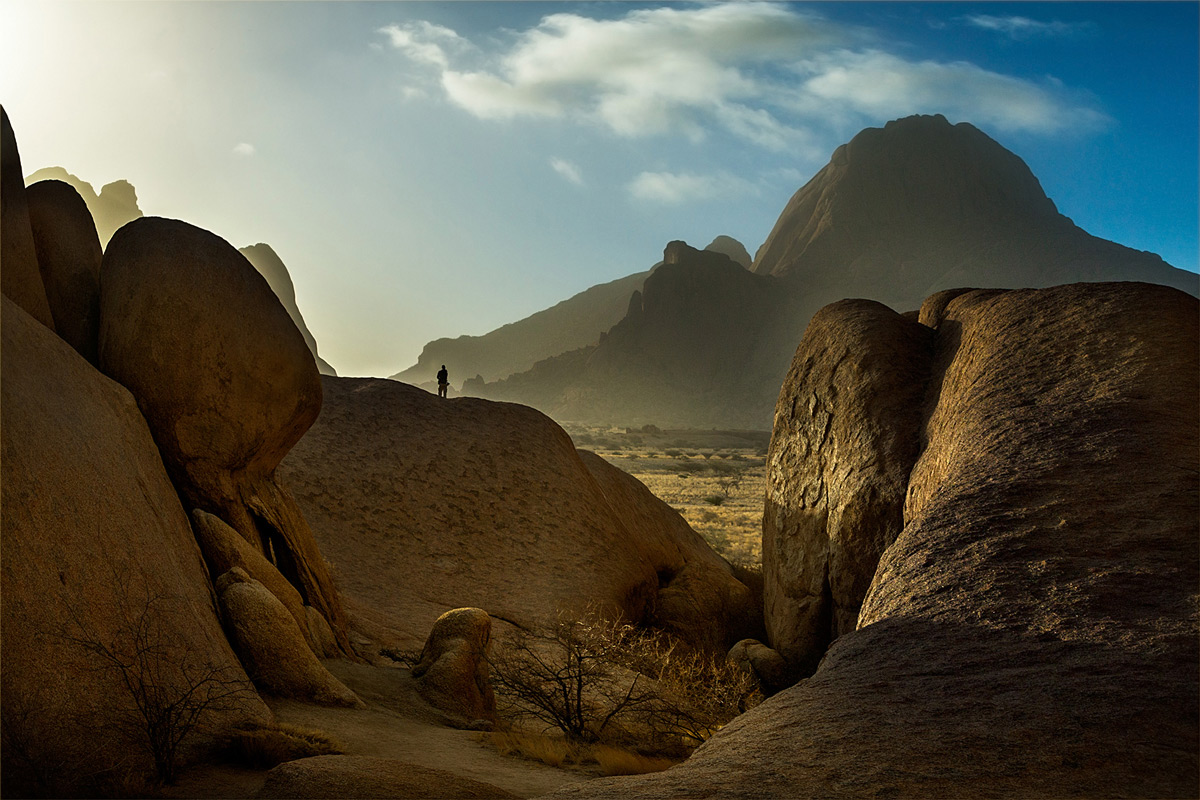 Spitzkoppe after a dust storm in winter, Namib Desert, Namibia © Hesté de Beer