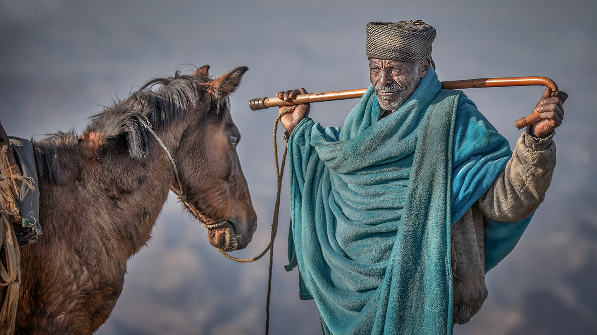An Ethiopian mountain man with his horse, Ethiopia © Kevin Dooley