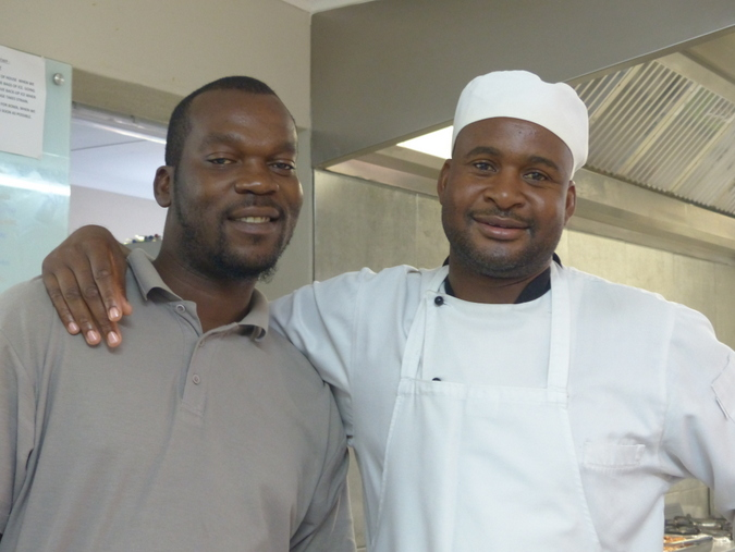 Chef and his assistant at Sausage Tree Safari Camp