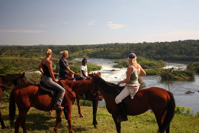 Horseback riding in Uganda