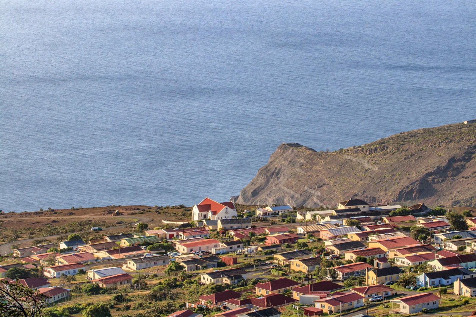Residential area on St. Helena island
