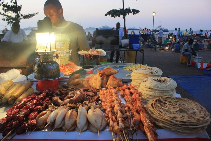 Night market in Stone Town, Zanzibar