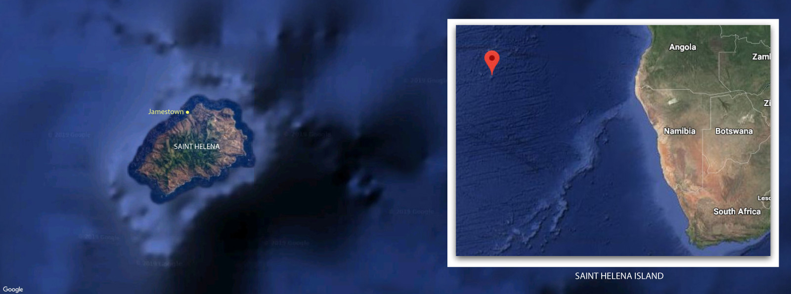 Map of St. Helena Island