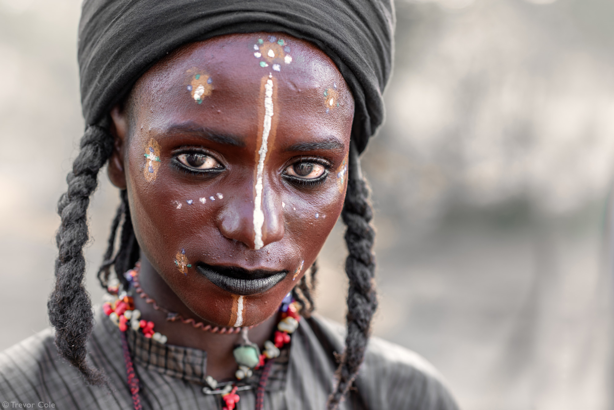 Wodaabe man with painted face