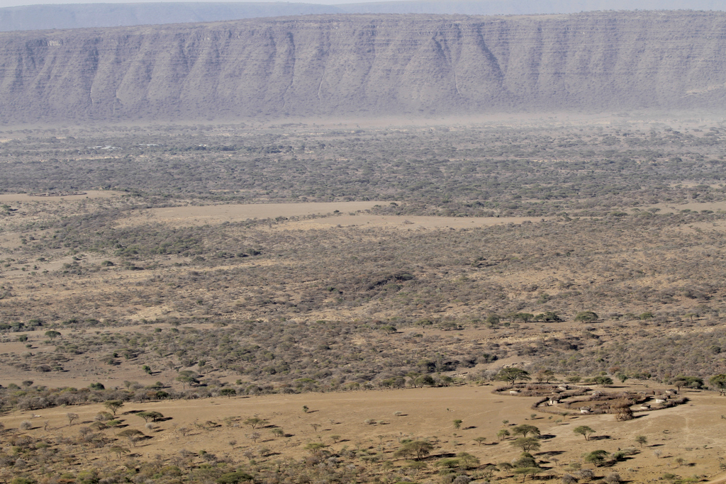 Maasai boma in Rift Valley in Tanzania