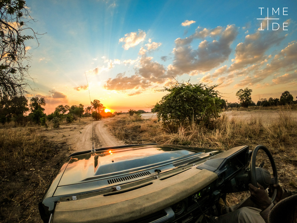 Morning game drive in South Luangwa, Zambia