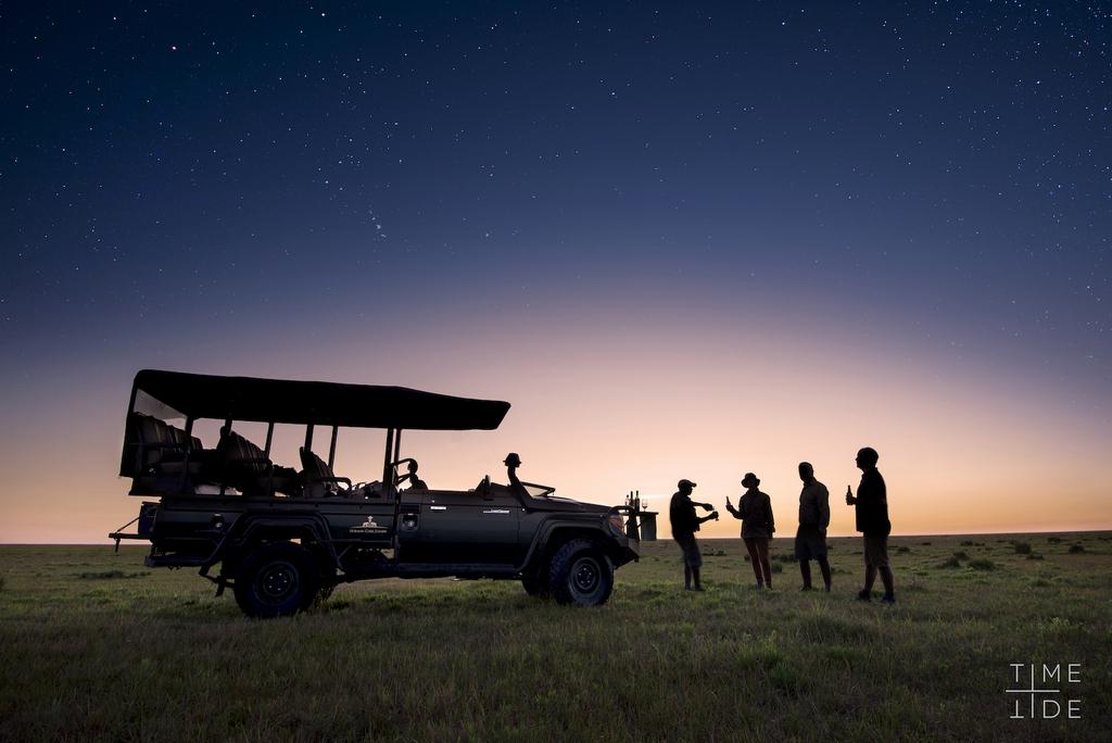 Sundowners in Liuwa Plain, Zambia