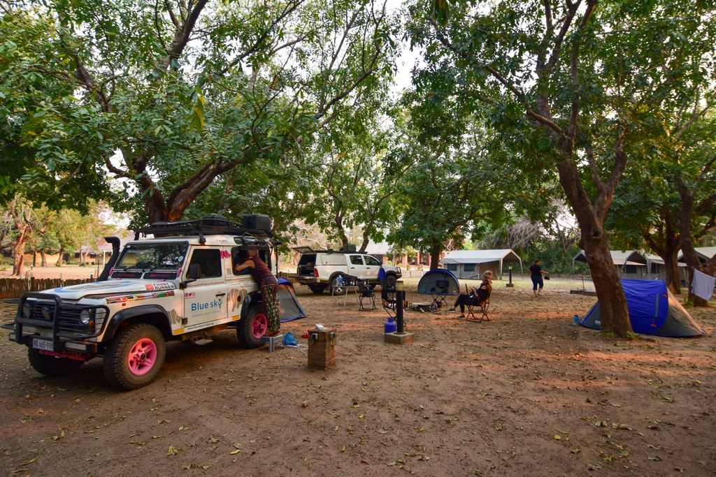 Camping in Chitengo in Gorongosa National Park in Mozambique