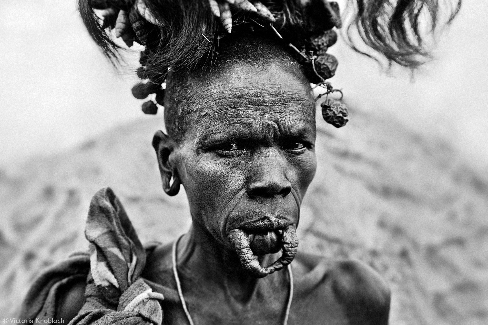 Mursi tribe woman, Omo Valley, Ethiopia