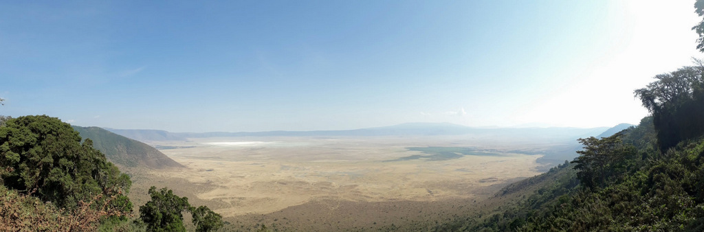View of the Ngorongoro Crater from the rim, Tanzania