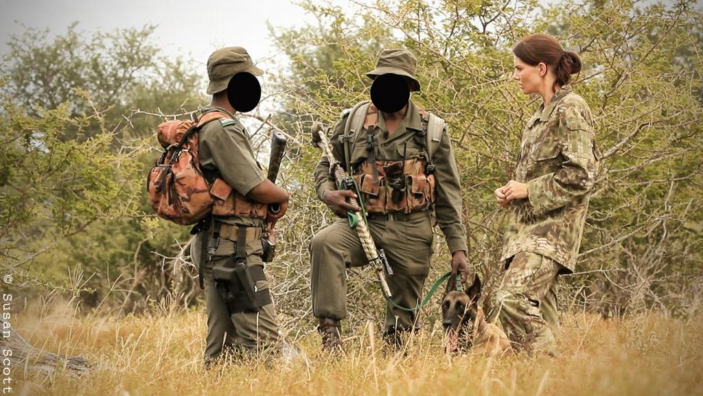 STROOP filmmaker Bonné de Bod interviewing Special Rangers inside the Kruger National Park