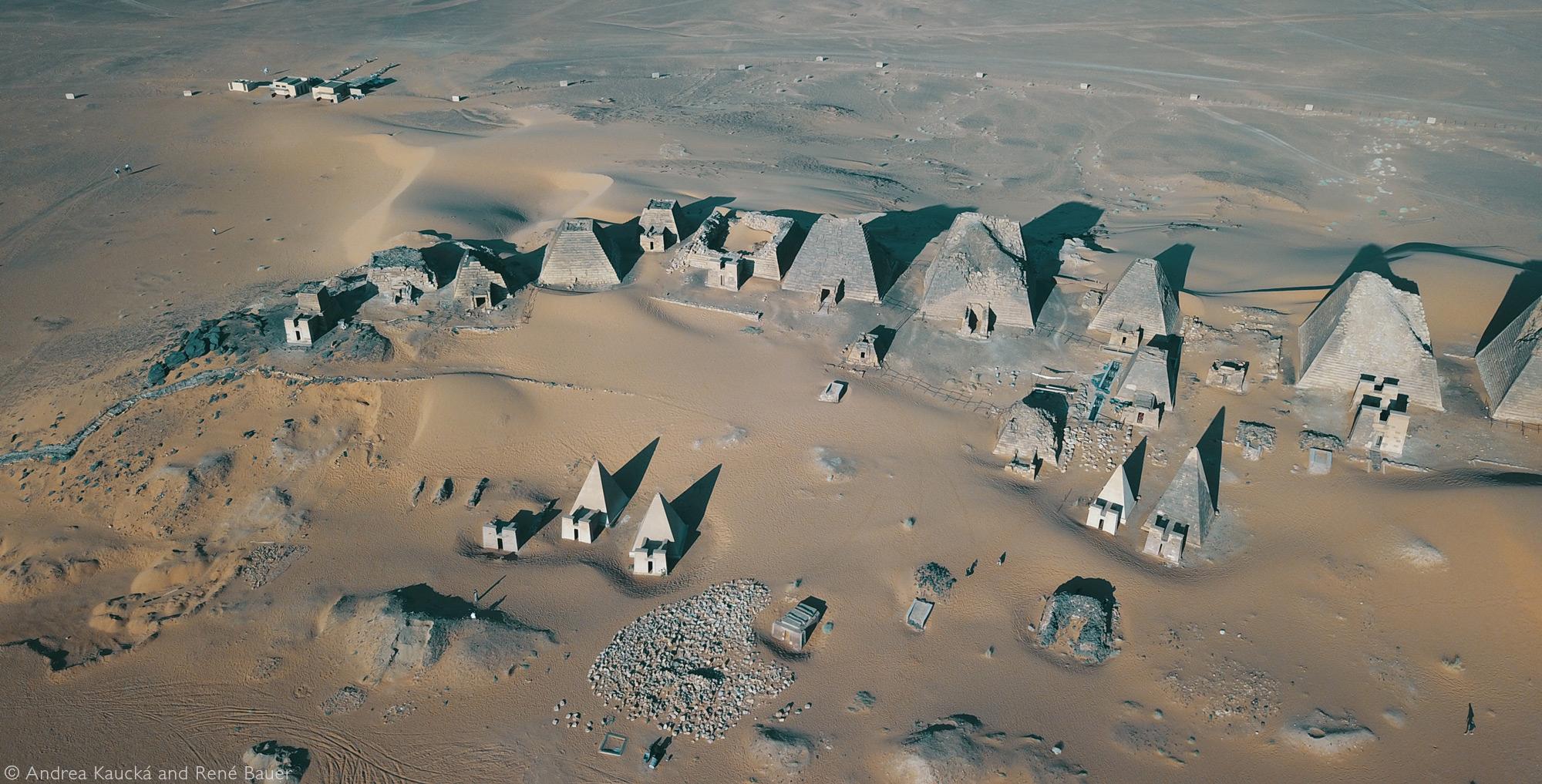 Nubian pyramids at Meroë © Andrea Kaucká and René Bauer