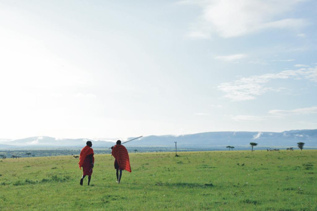 Two Maasai warriors in Kenya communities
