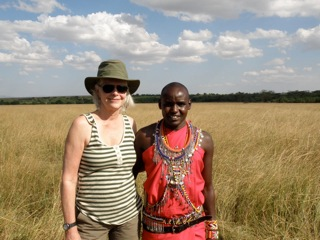Maasai guide with author