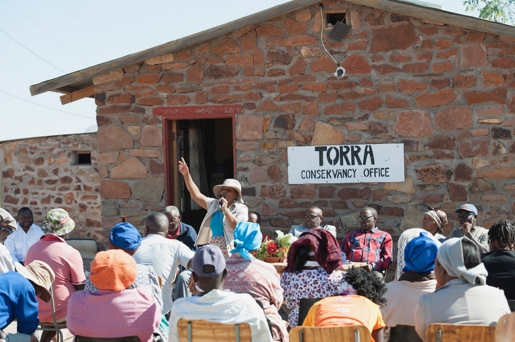 People at Torra conservancy office communities